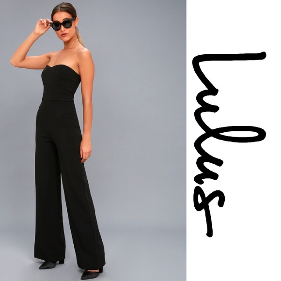 7aeaf985d10 EDITH BLACK STRAPLESS JUMPSUIT